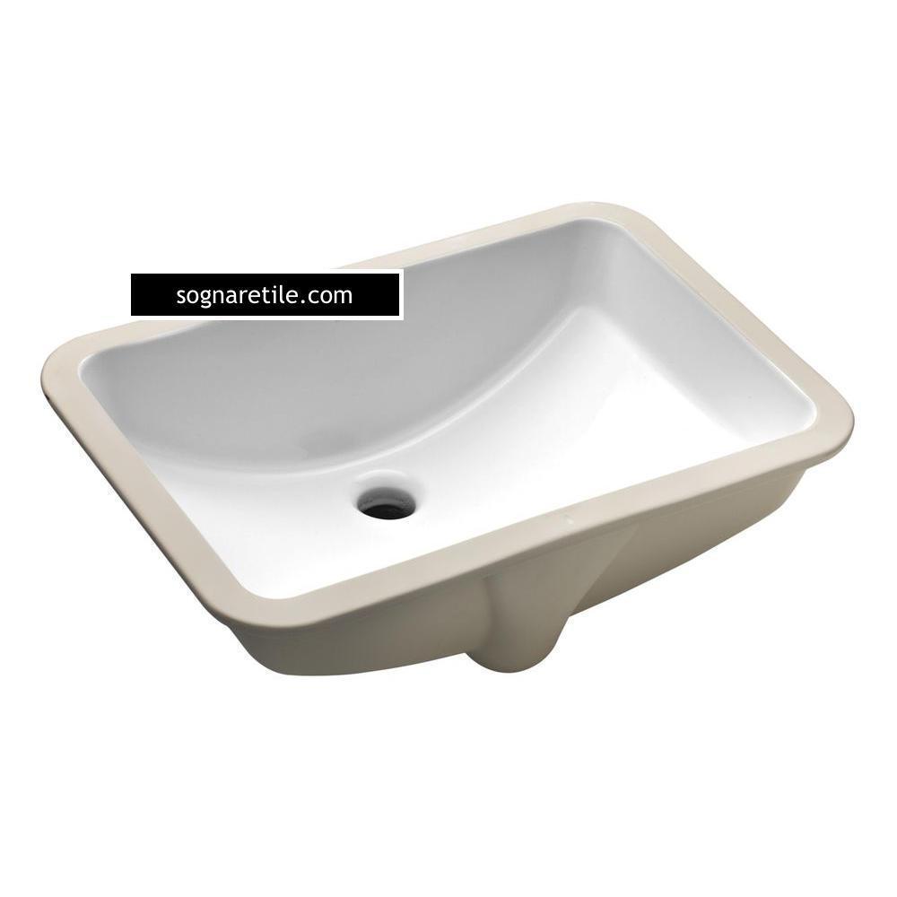 Undermount Bathroom White Porcelain Rectangular Sink Free Shipping Rectangular Sink Porcelain Sink Traditional Decor