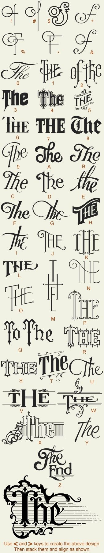 tattoo letter designs a-z