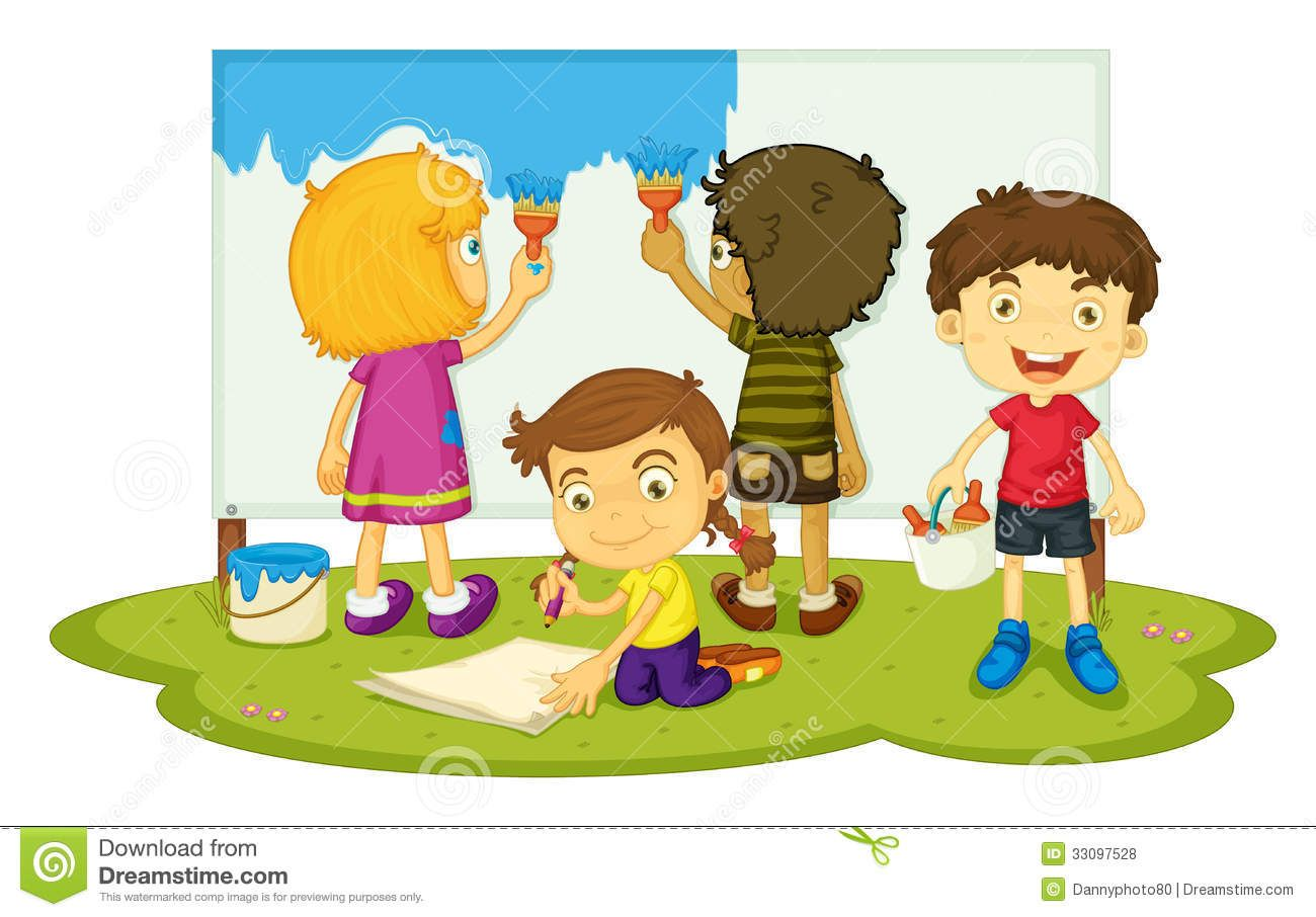 Kids Painting Walls Clipart Logo In 2019 Painting For Kids