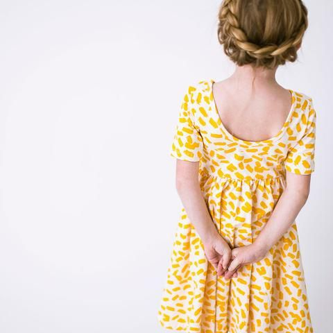 8531c589f4ab Sunshine twirl dress by Alice and Ames. THE SHORT SLEEVED BALLET DRESS IN  SUNSHINE