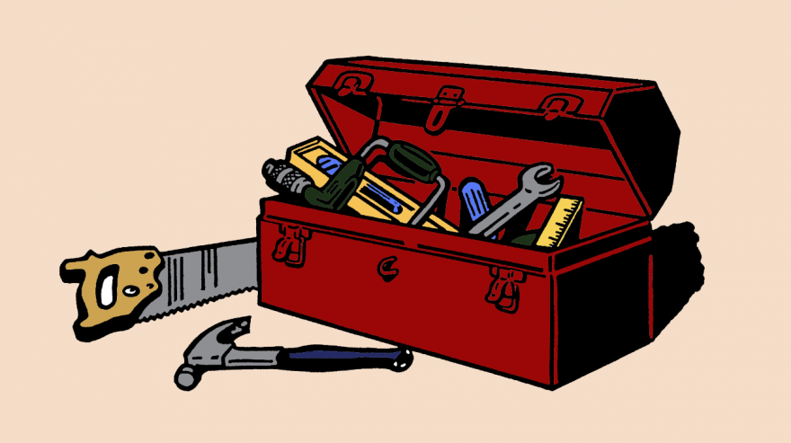 Drawing Of A Toolbox And Tools Pictures To Draw Drawings Art Lessons