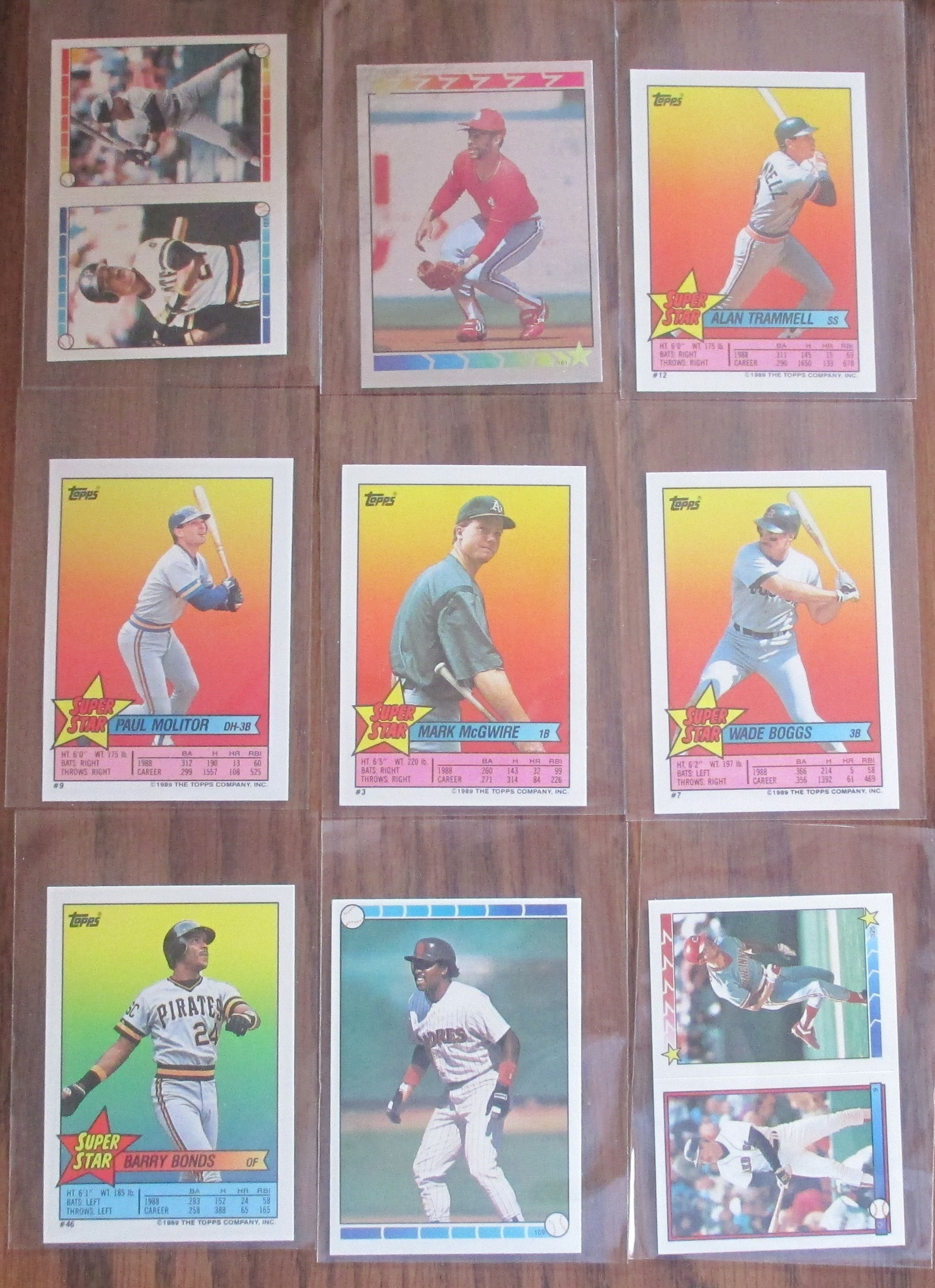1989 topps stickers barry bonds baseball cards sports