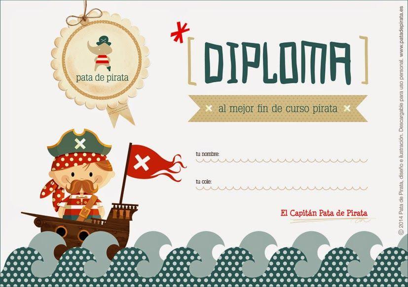 Diploma al mejor fin de curso pirata. | Fichas de clase ...