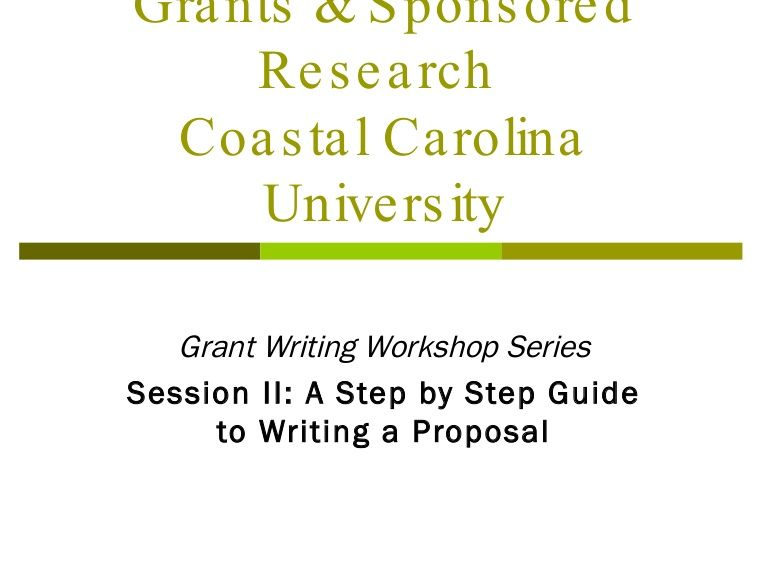 Grants  Sponsored Research Coastal Carolina University Grant