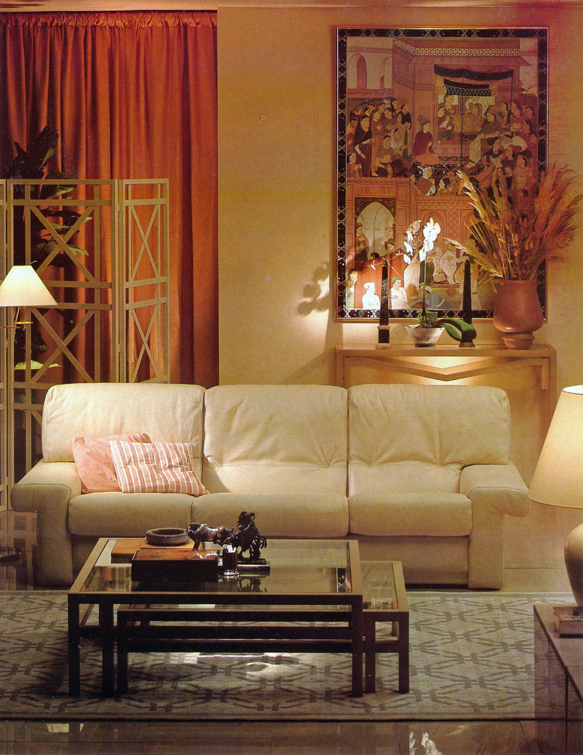 Roche-Bobois' California cream leather sofa   Leather sofa ...