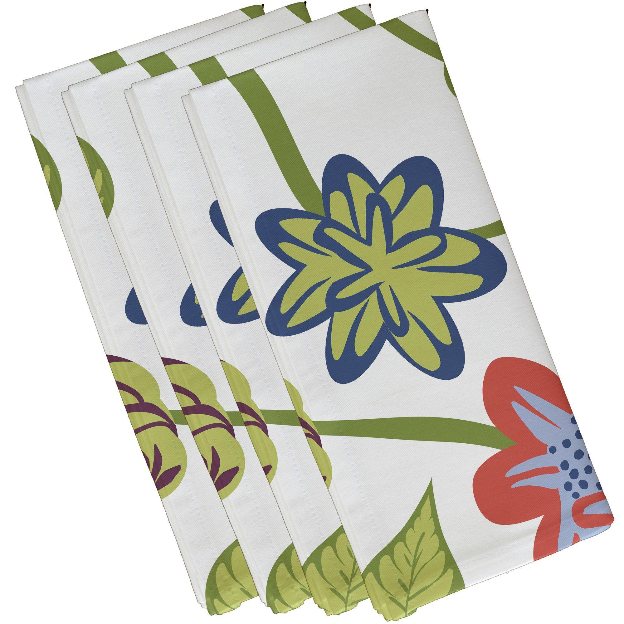 Fathom Tropical Floral Print Napkin