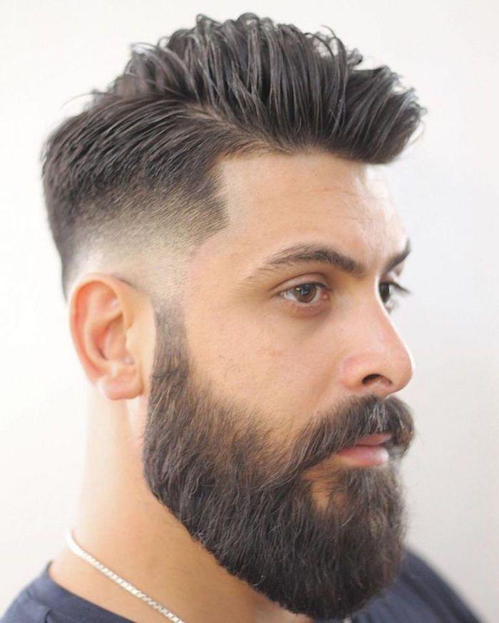 coiffure homme degrade avec barbe