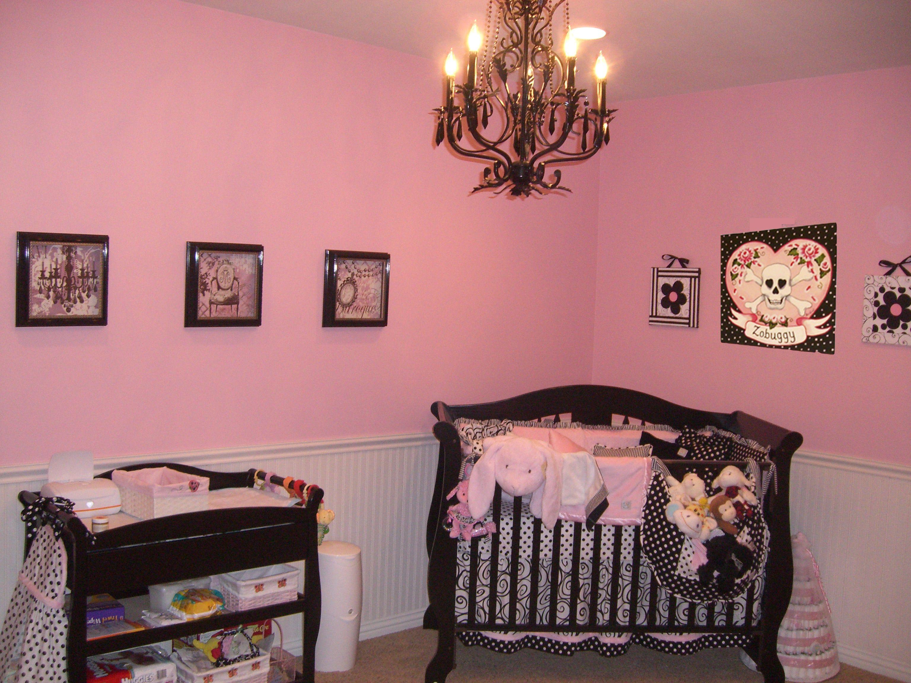 Nursery Design Trends Advice From Celebrity Designer: Celebrity Nursery In Pink And Black For Jodie Sweetin