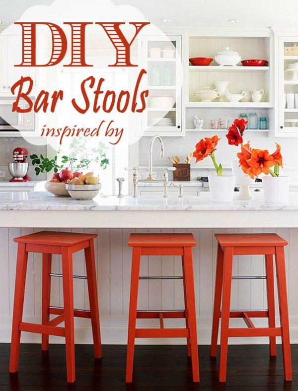 Remodelaholic Diy Bar Stools With Metal Bar Accents Country Kitchen Decor Kitchen Decor Themes Country Kitchen