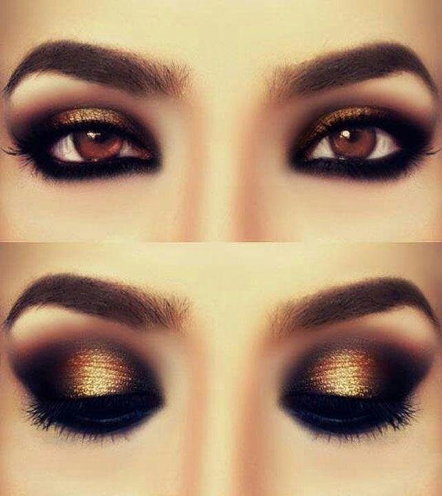 Makeup Ideas Dramatic Eye Makeup With Gold Eyeshadow ...