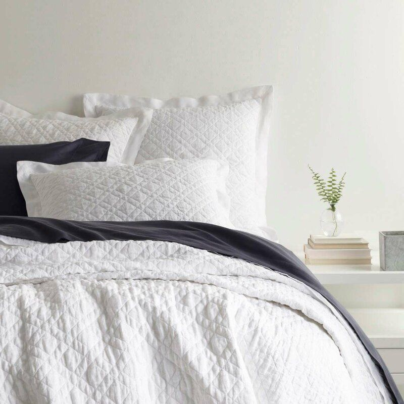 Washed Linen Reversible Quilt White Quilt Bedding Bed Linen