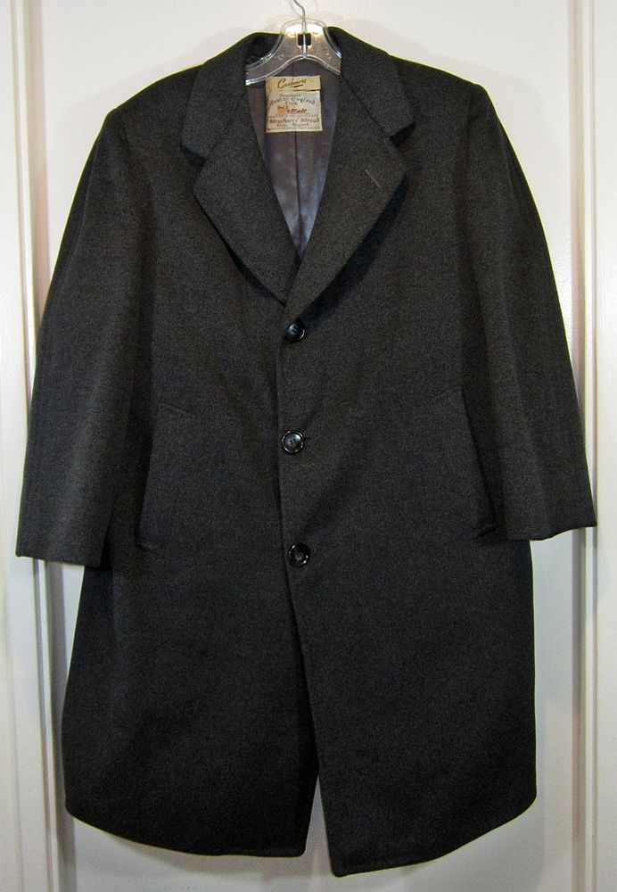 Vintage 1952 Strachan West of England Tailored Men s Cashmere 3 Button Coat