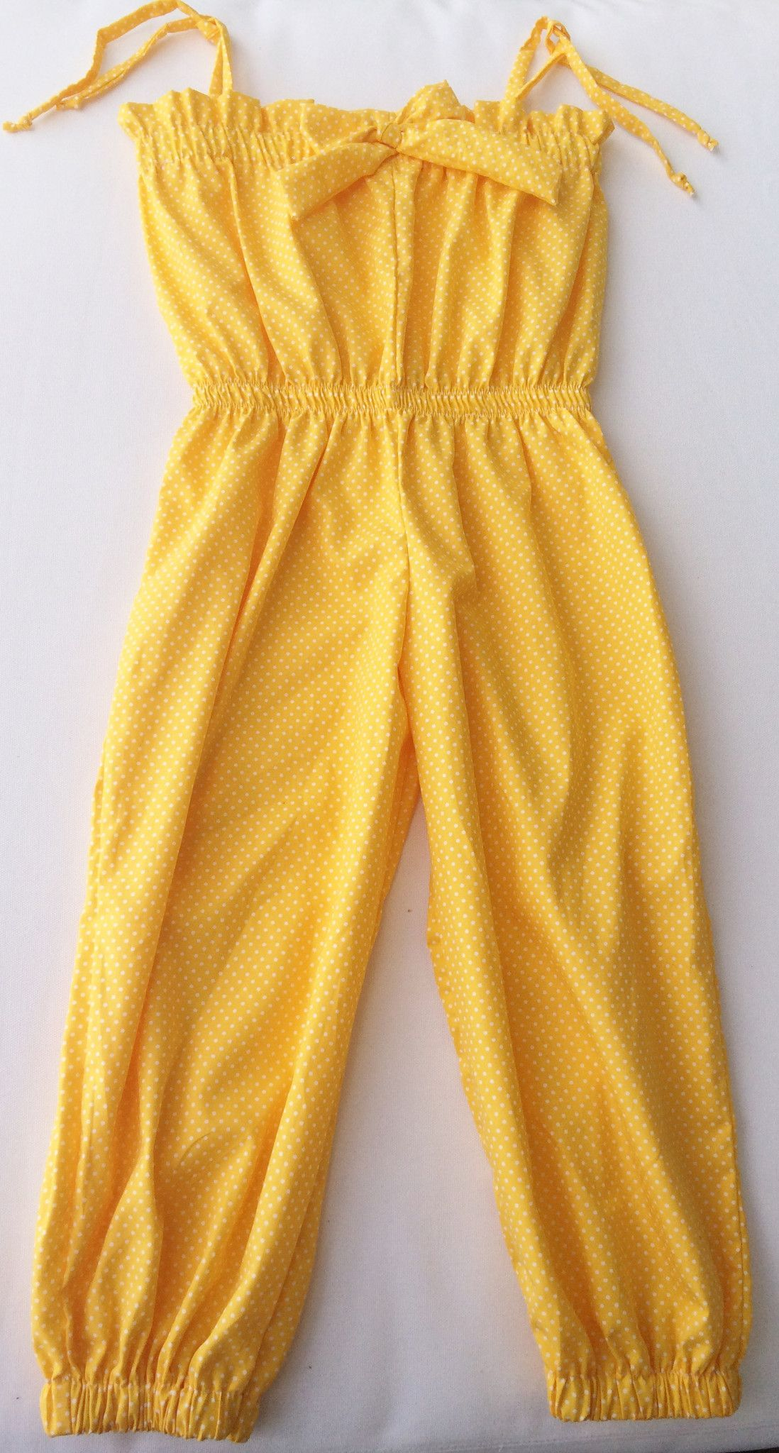 5759d913c7a2a Girls Jumper, Overall, Cotton Yellow Jumpsuit by ABY'S KIDS | girls ...
