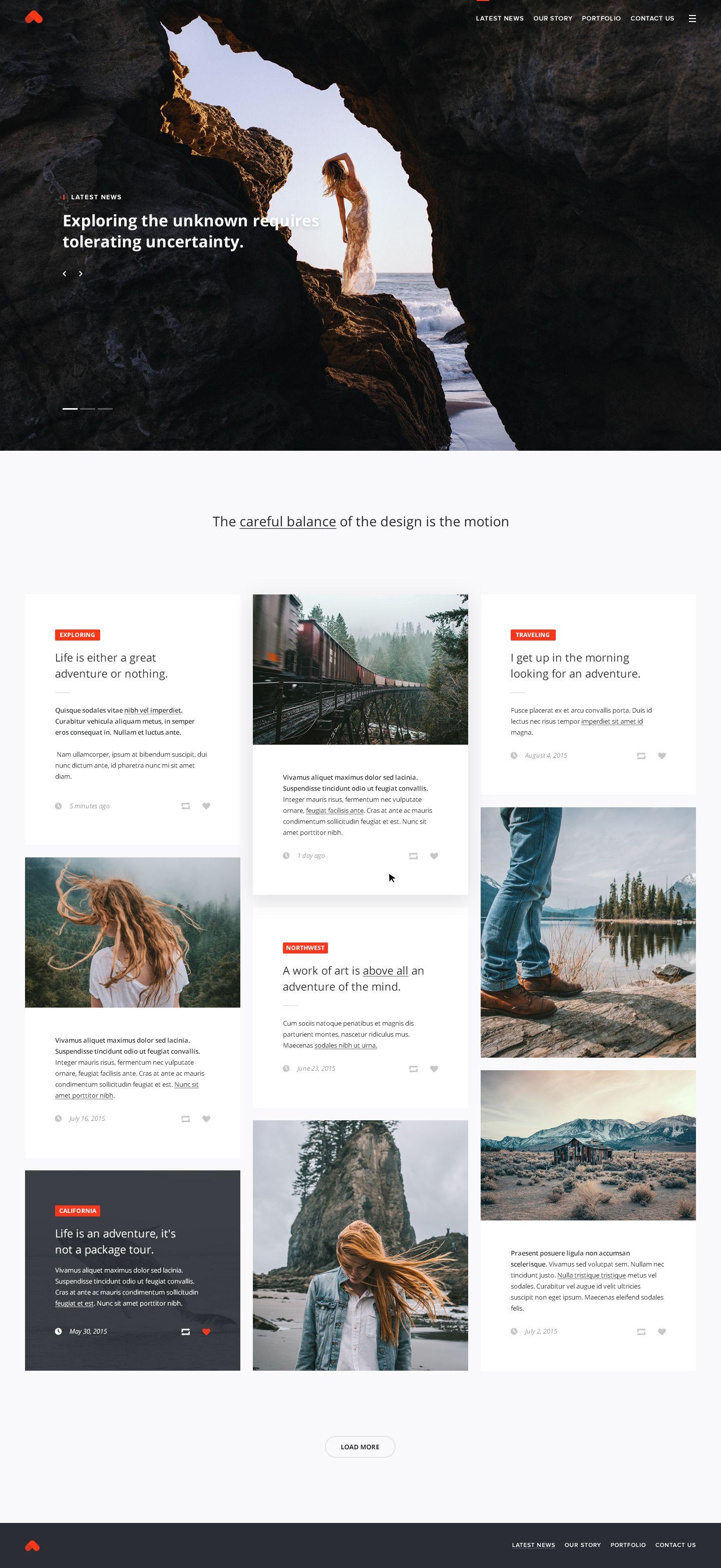 Index Jpg By Andrew Baygulov Travel Website Design Blog Layout Design Travel Blog Design