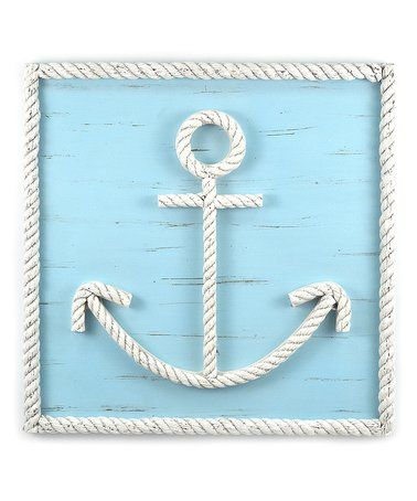 This Blue Rope Anchor Wall Art Is Perfect Zulilyfinds Anchor Wall Art Diy Beach Decor Beach Themed Crafts