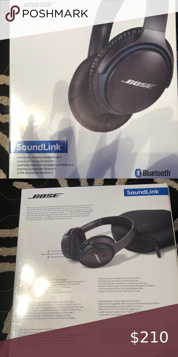 New Bose Headphones Box Never Opened Wireless Headphones Soundlink Bluetooth Bose Other Bose Headphones Headphones Wireless Headphones