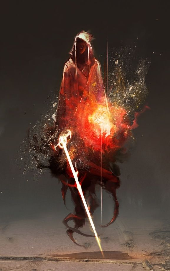 Acolyte of Embers - A gallery-quality illustration art print by Aaron Nakahara for sale.