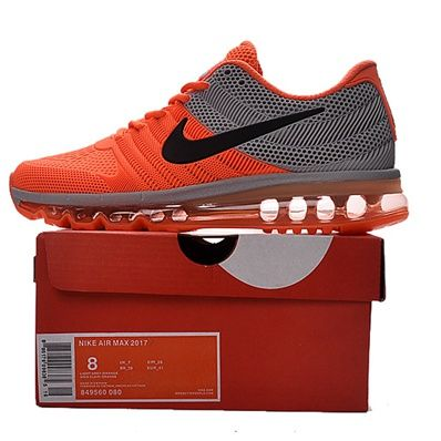 948165ef1de0 Nike Air Max 2017 Men Orange Grey Running Shoes Size 11.5
