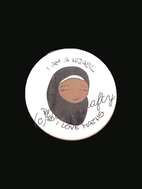 Hijabi Badges- Dark Skin Tone SET 2 #darkskingirls Hijabi Badges- Dark Skin Tone SET 2 #darkskingirls