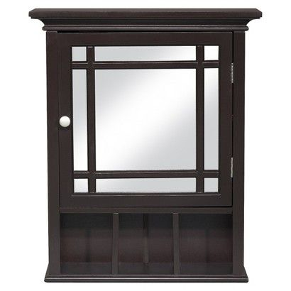 Target Medicine Cabinet Inspiration Elegant Home Fashions Neal Wall Cabinet  Dark Espresso  Craftsman Design Decoration