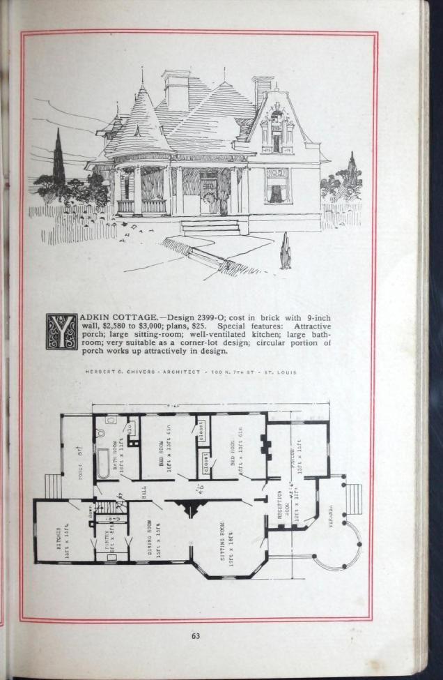 Artistic Homes Herbert C Chivers Architect Architectural Prints Cabin Plans House Floor Plans