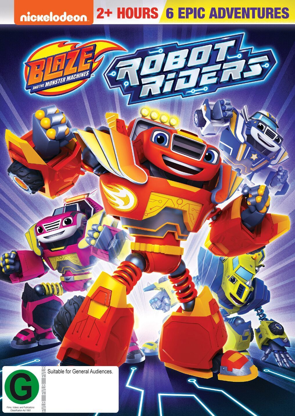 Blaze And The Monster Machines Robot Riders Dvd Con Imagenes