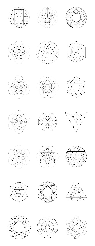Sacred Geometry Bundle 60 Items By Kloroform On Creativemarket