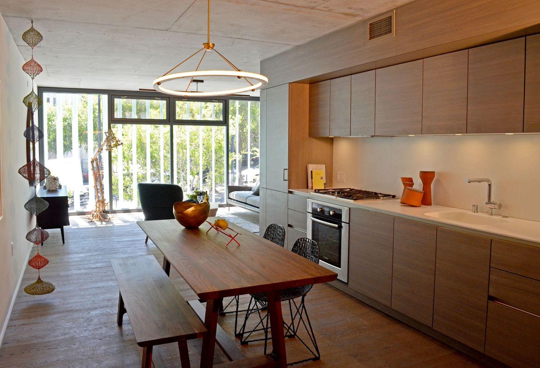 8 Octavia Luxury Condo San Francisco  SieMatic Kitchen Cabinets, Glacier  White Corian Countertops With