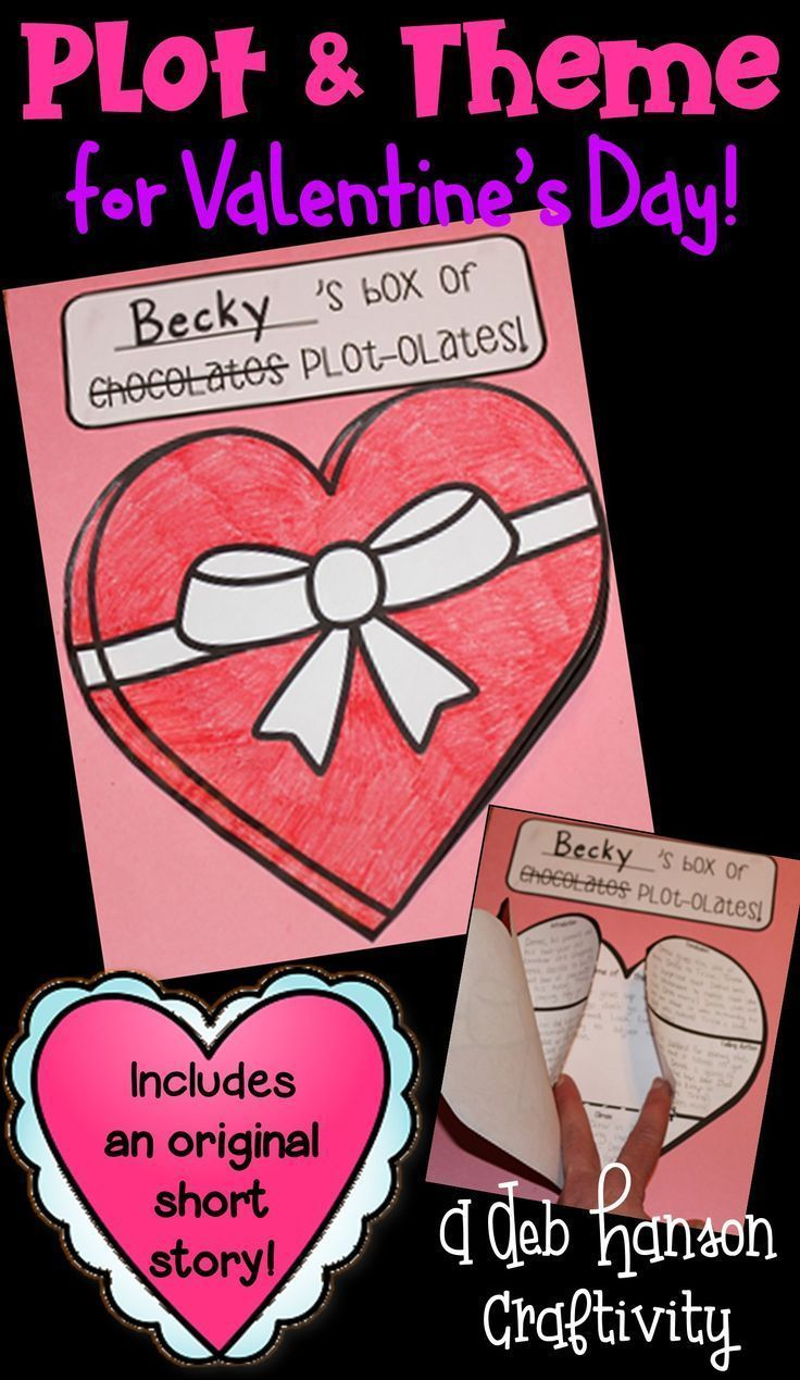A Valentine's Day reading activity that focuses on plot and theme! Students read a short story and assemble the craftivity! Makes a fun February bulletin board, too!