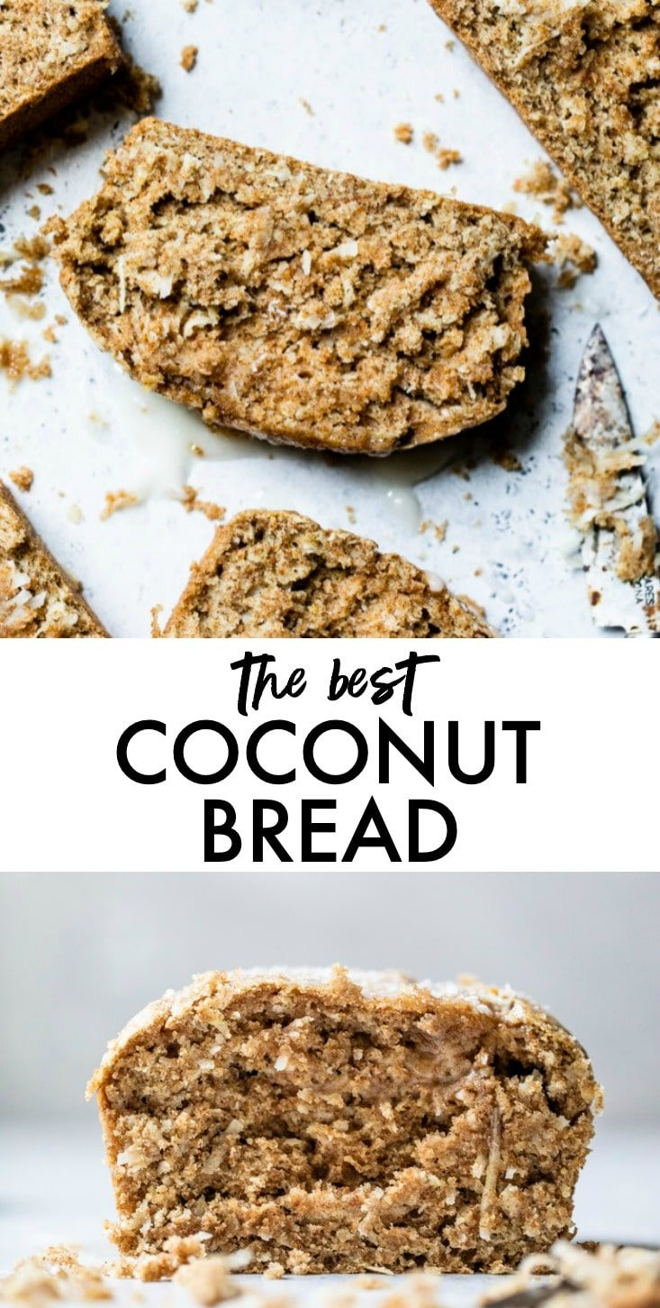 Triple Coconut Bread Easy Coconut Bread recipe that's made with whole wheat flour, making it healthier than other breads! The best part is that it's made with coconut milk, coconut oil and shredded coconut for plenty of coconut flavor!