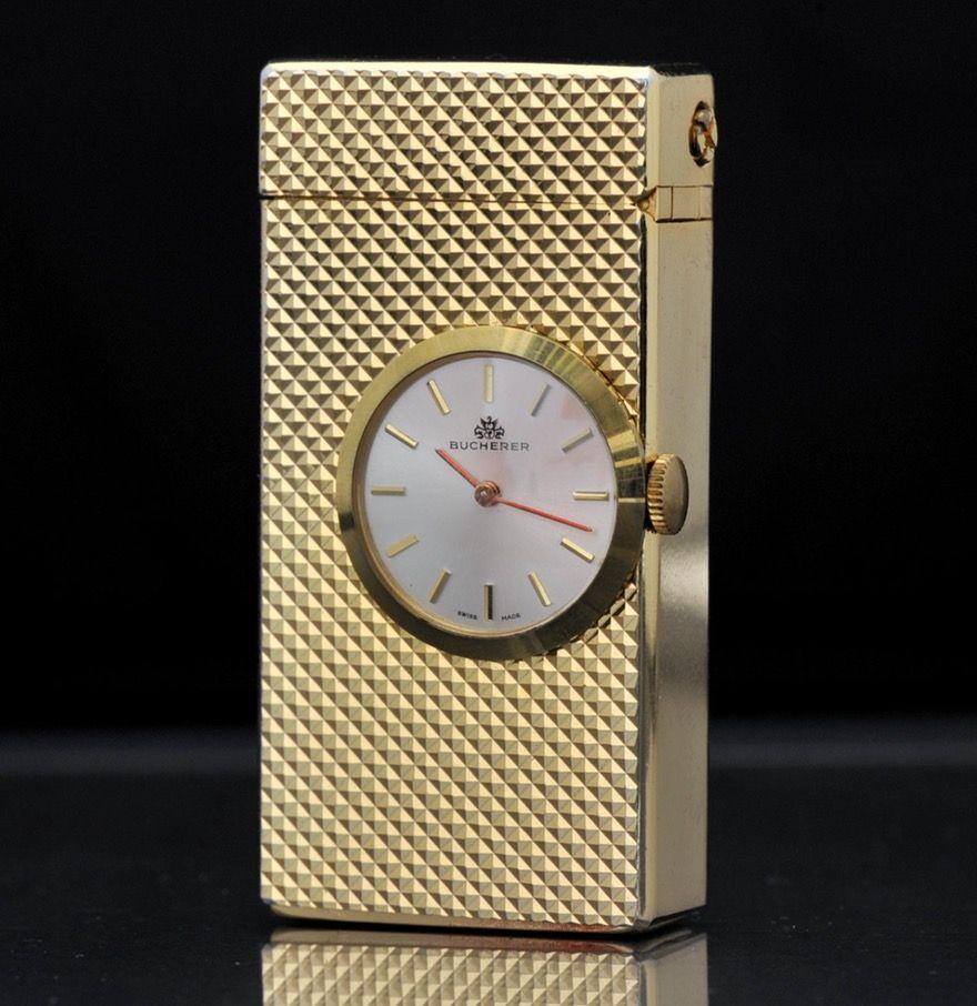 Vintage Bucherer Lighter with Clock | Time For A Light
