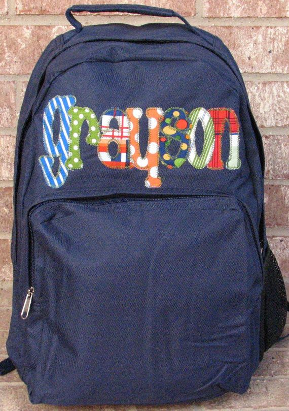 Personalized Applique Backpack Custom by PigtailPuddleJumpers,  35.00 Boys  Backpacks, Child Life, Kids Crafts 962e86ee0d