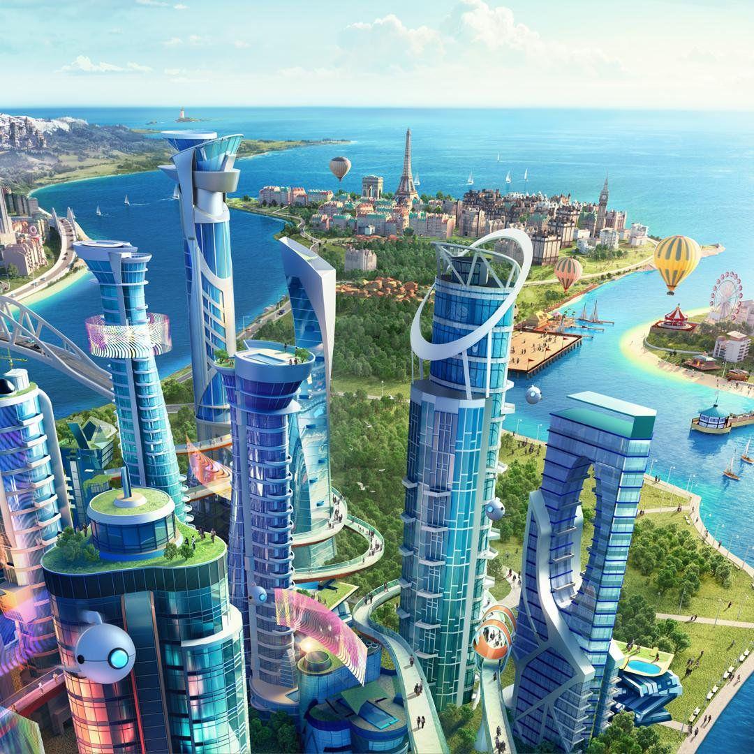 смотреть картинки города в будущем металлочерепицы это