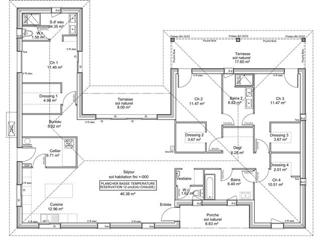 1287 plan en u 640 474 maison de reve pinterest plans maison plans et plan. Black Bedroom Furniture Sets. Home Design Ideas
