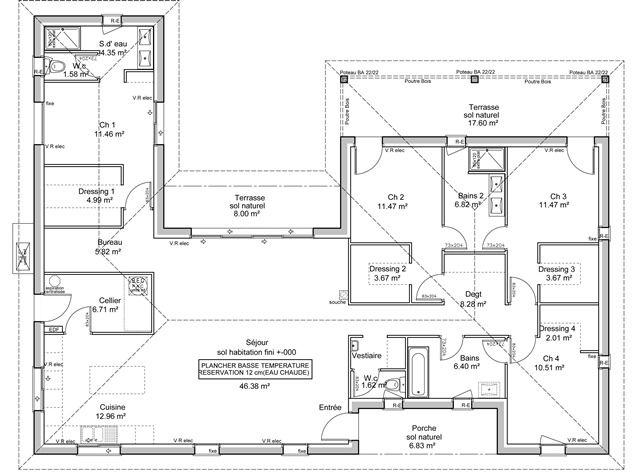 Pin by Martine Blanchi on Plans Maisons 2(complet) Pinterest - plan maison etage m