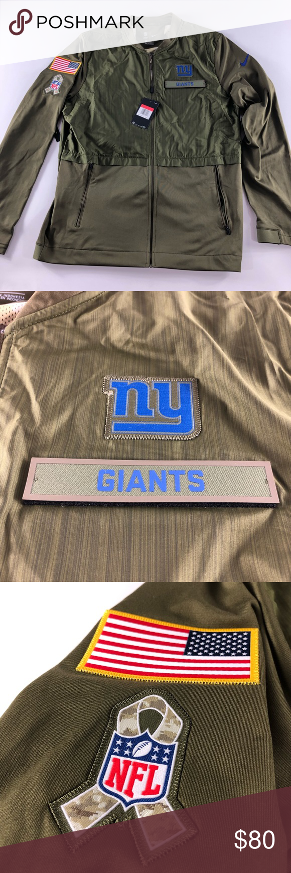 Nike NY New York Giants Salute to Service jacket Nike NY New York Giants Salute to Service jacket Large New with tags Nike Jackets & Coats Windbreakers #salutetoservice Nike NY New York Giants Salute to Service jacket Nike NY New York Giants Salute to Service jacket Large New with tags Nike Jackets & Coats Windbreakers #salutetoservice