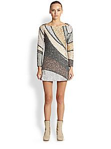Marc Jacobs - Beaded Colorblock Shift Dress ~ 6200