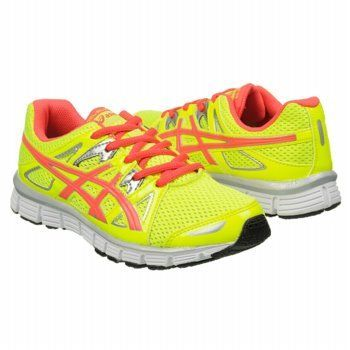 Asics Gel Shoes (Yellow/Hotpunch/Slvr) - Kids' Shoes - M