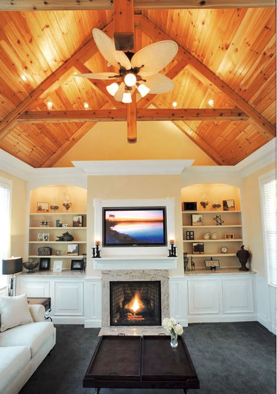 Amazing Natural Wood Vaulted Ceilings W Beams Love The