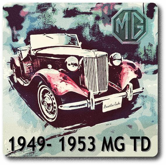 MG TD heat resistant Ceramic tile in 2020  Classic cars, Artwork, Classic