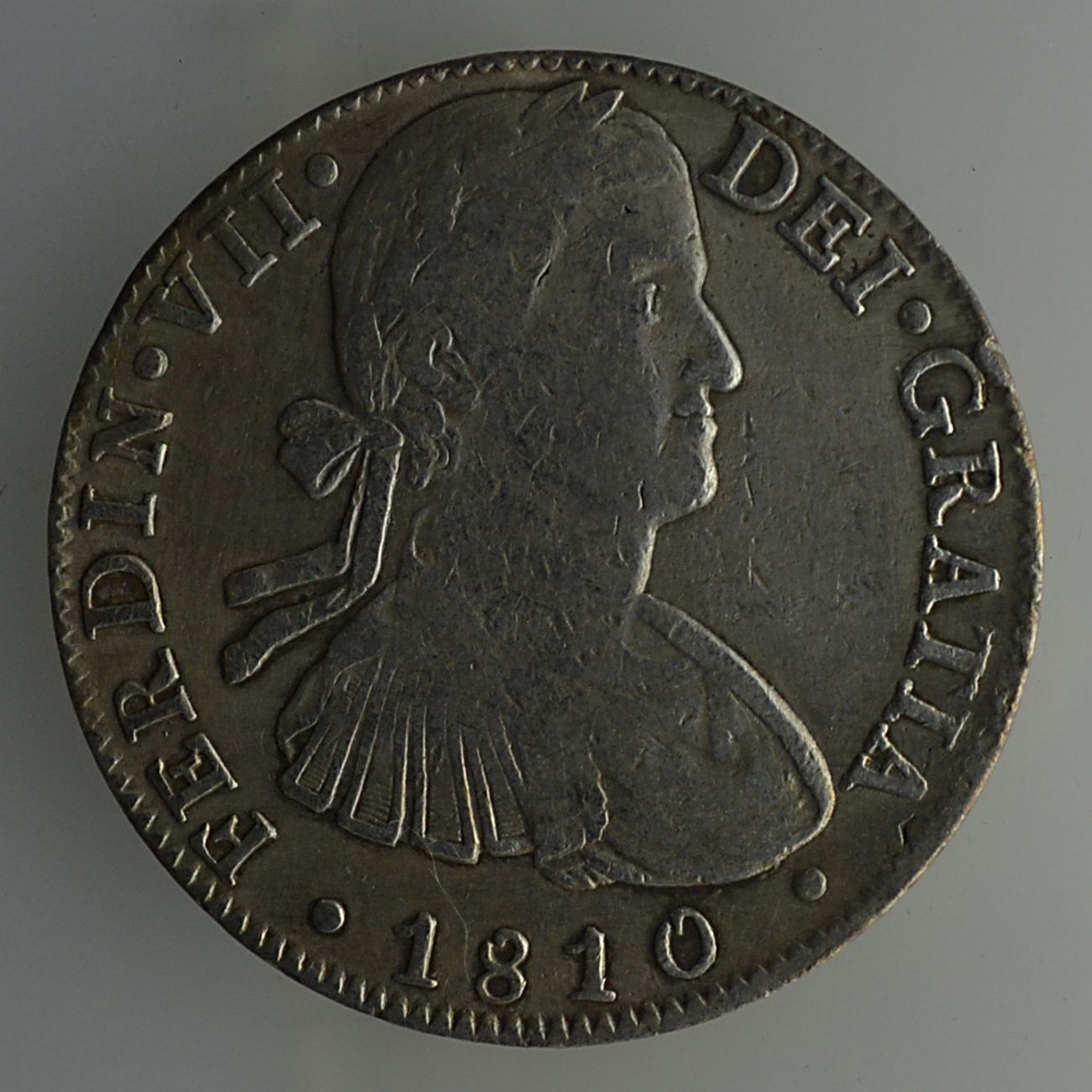 1810 Fernando VII HJ 8 Reales Mexico Mint Spanish Colonial Silver Coin