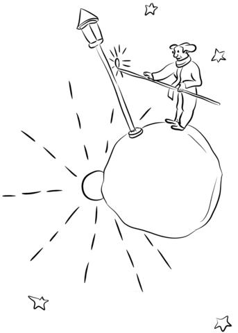The Little Prince Visits the Lamplighter Dibujo para colorear ...