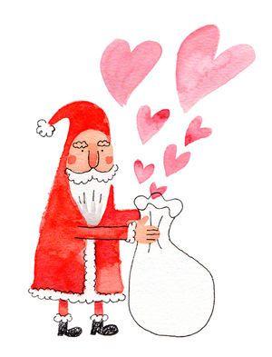 12月の画像イラストクリスマスに使えるサンタクロースとトナカイの