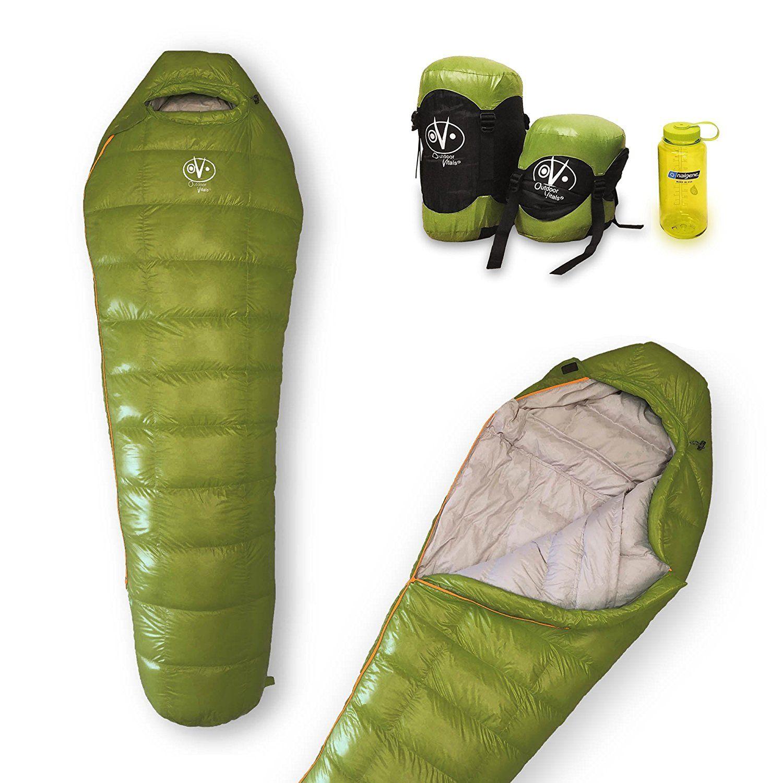 30 Degree F Sleeping Bag Ultra-light Backpack Mummy Down Sleeping Bag for 0-15