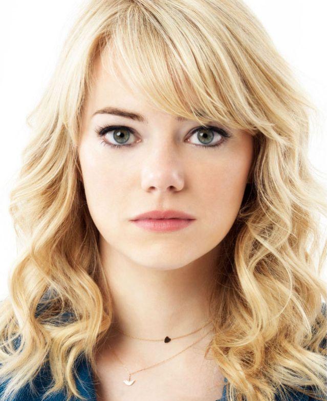 Emma Stone Kinda Love Her Hair As Gwen Makes Me Want To Have Bangs Frisuren Seitliche Frisuren Frisuren Mittellanges Haar
