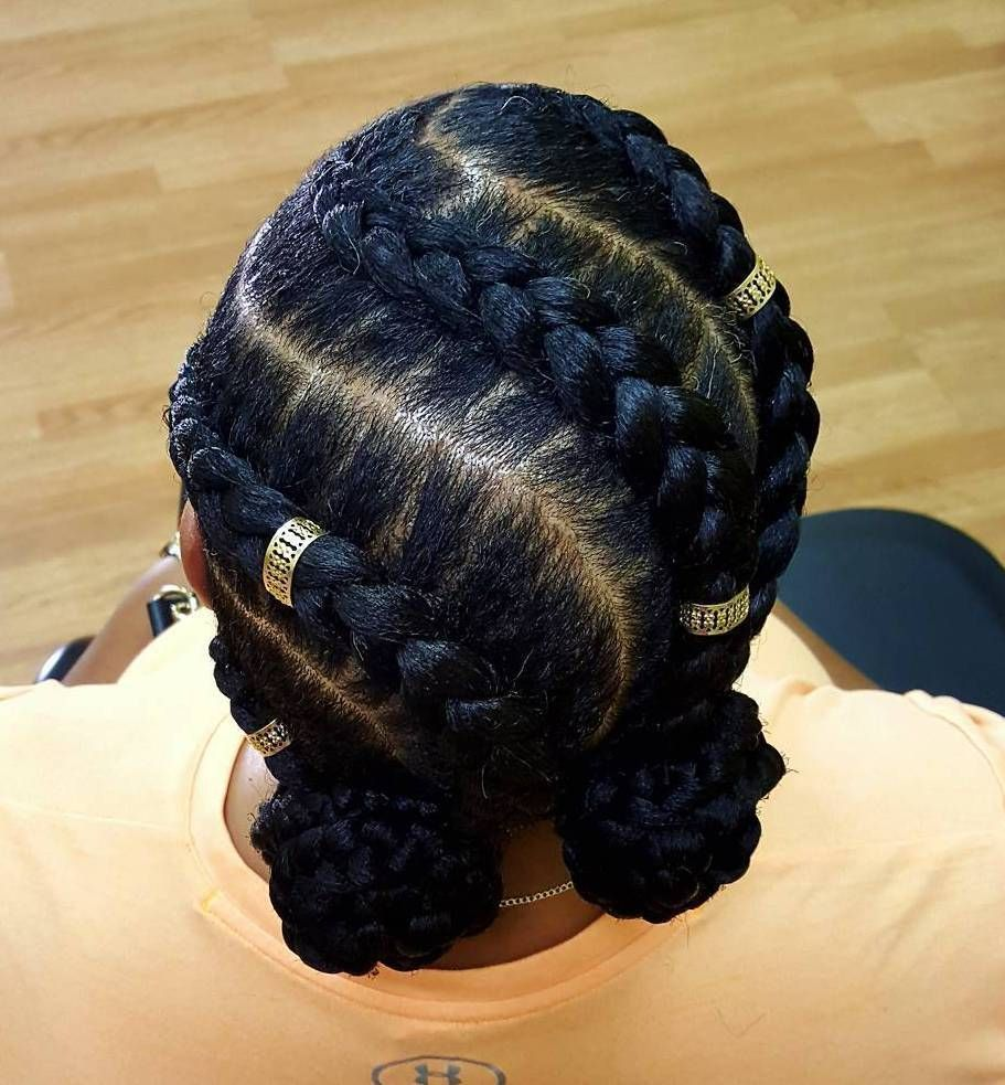 60 Easy And Showy Protective Hairstyles For Natural Hair Natural Braided Hairstyles Goddess Braid Styles Natural Hair Styles