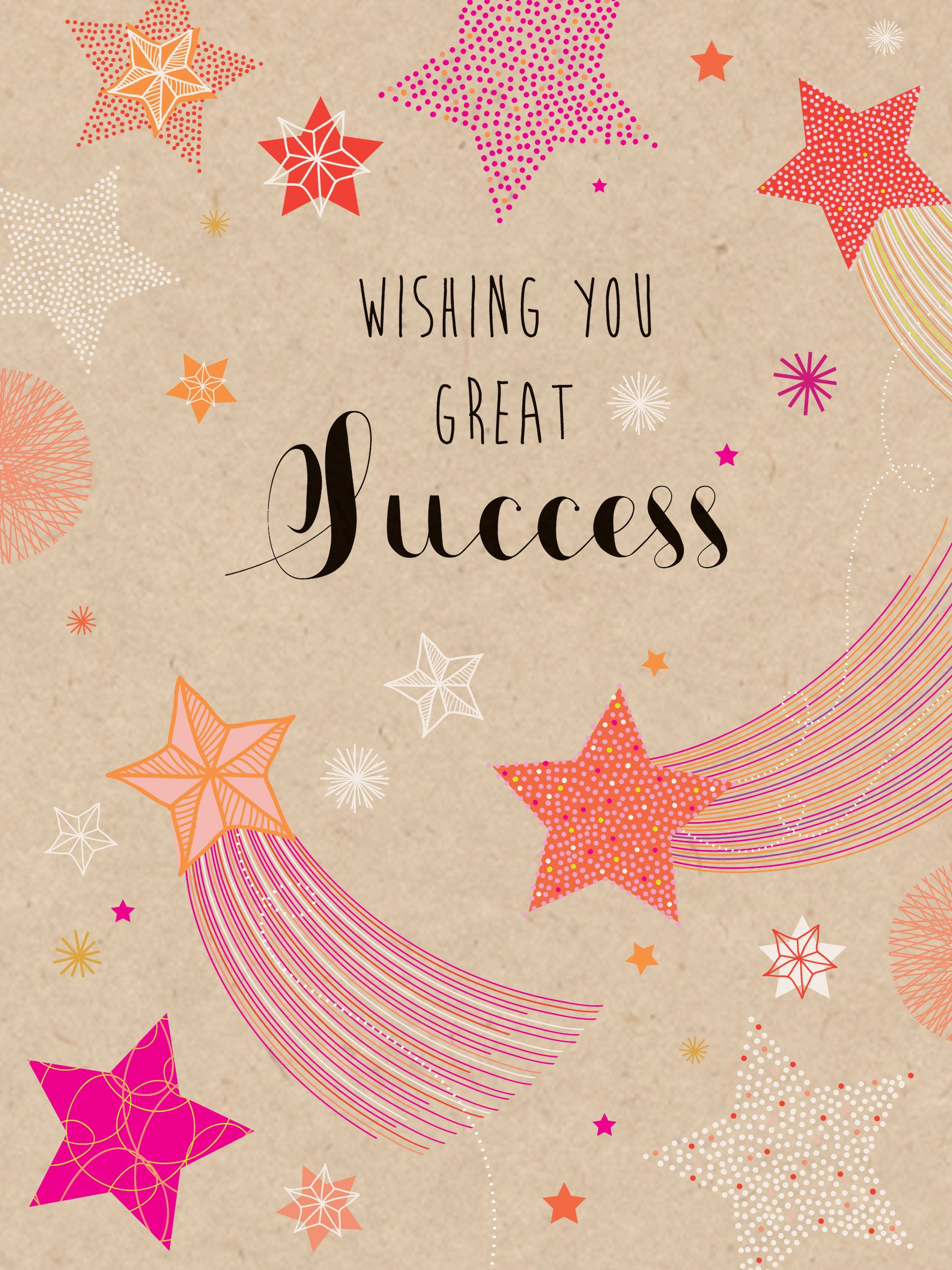 Wishing You Great Success (W461) Luxury Card By Hillberry Card