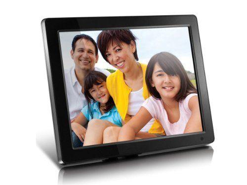 Aluratek 12 Inch Admpf512f High Resolution Digital Photo Frame With