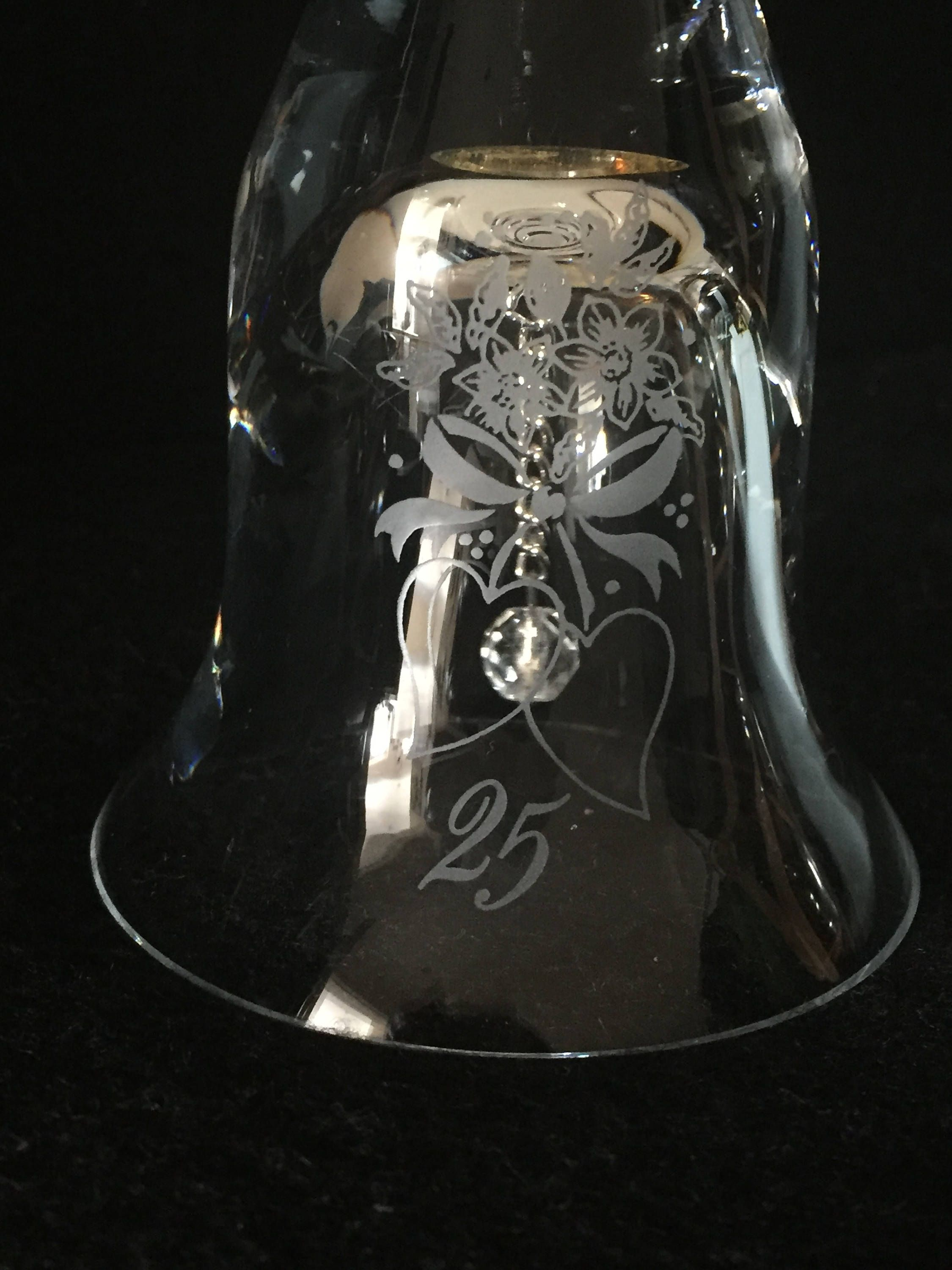 """Vintage """"Caithness"""" crystal 25th Anniversary clear glass"""