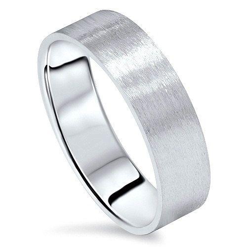 6mm Flat Brushed Satin Mens Wedding Band Ring 10k White Gold Etsy Mens Gold Wedding Band Brushed Gold Wedding Band Rings Mens Wedding Bands